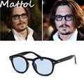 Johnny Depp Mattol 2016 Nueva moda Remaches Gafas de Sol de la vendimia de las mujeres del hombre de la marca retro gafas gafas de sol caliente
