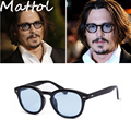 Mattol 2016 New fashion Sunglasses vintage Rivets Eyeglasses Johnny Depp women man brand glasses retro gafas hot oculos de sol