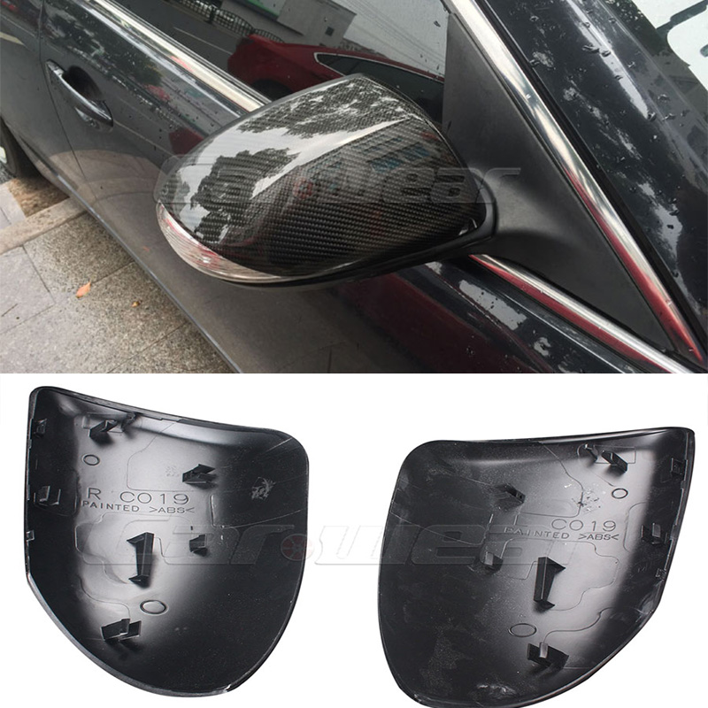 Carbon Fiber Replace Car Side Wing Mirror Cover Trim For