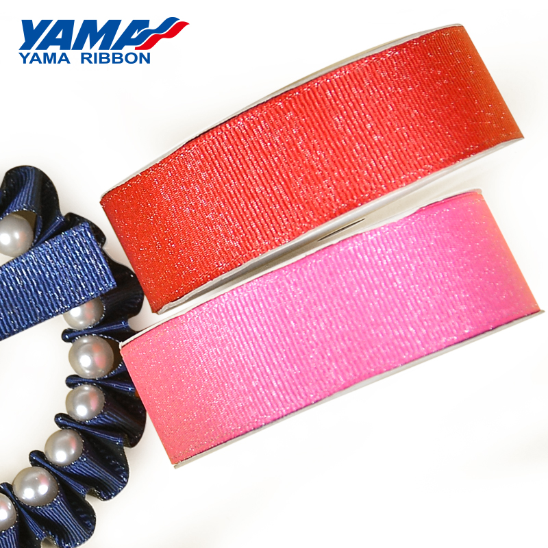 YAMA Silver Purl Grosgrain Ribbon 6 9 16 22 25 38 mm 100yards/roll for Diy Wedding Decoration Handmade Crafts Gifts Ribbons
