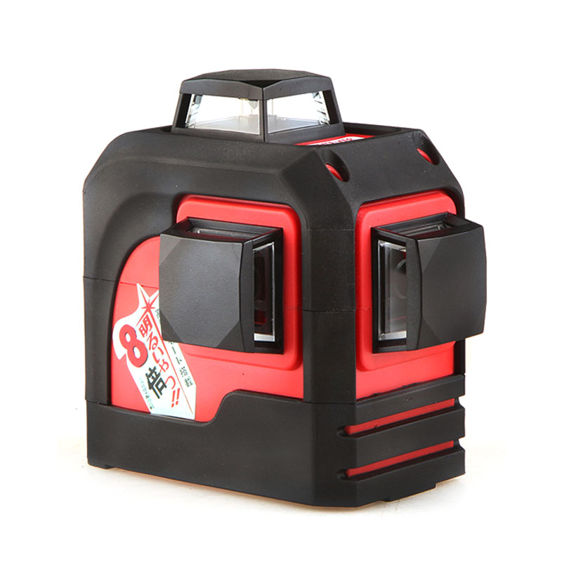 2019 New Fukuda 12 lines MW 93T lithium battery red laser level 360 Vertical And Horizontal