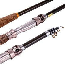 Portable Carbon Fiber Telescopic Rotating Bait Fishing Rod