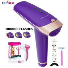 Free Shipping IPL Laser Epilator Hair Removal Depilador for Face Body Armpit Bikini Leg Underarm