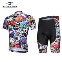 Camiseta de manga corta de Ciclismo para Hombre, uniforme de Ciclismo transpirable, color negro