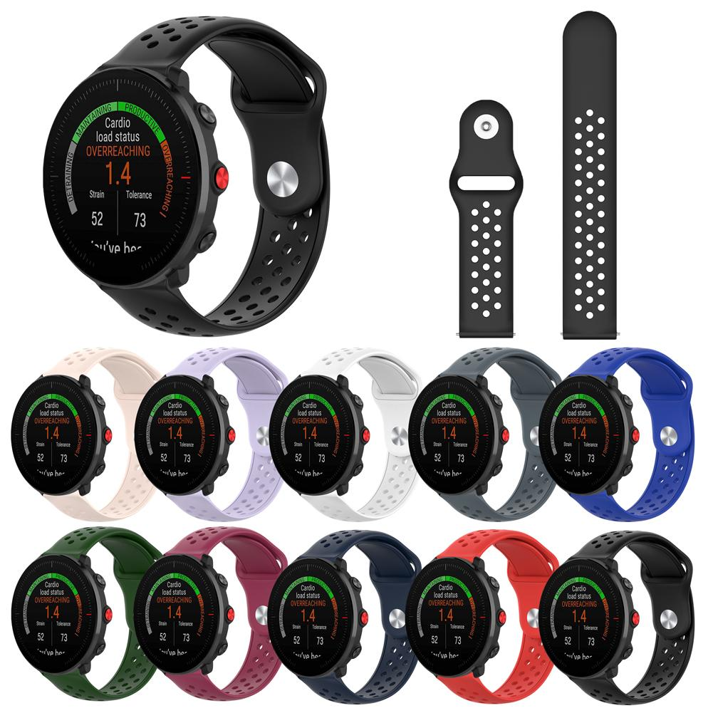 22MM Silicone Strap Replacement Wristband For Polar Vantage M Smart Watch Accessories Wrist Band Strap Reversal Buckle