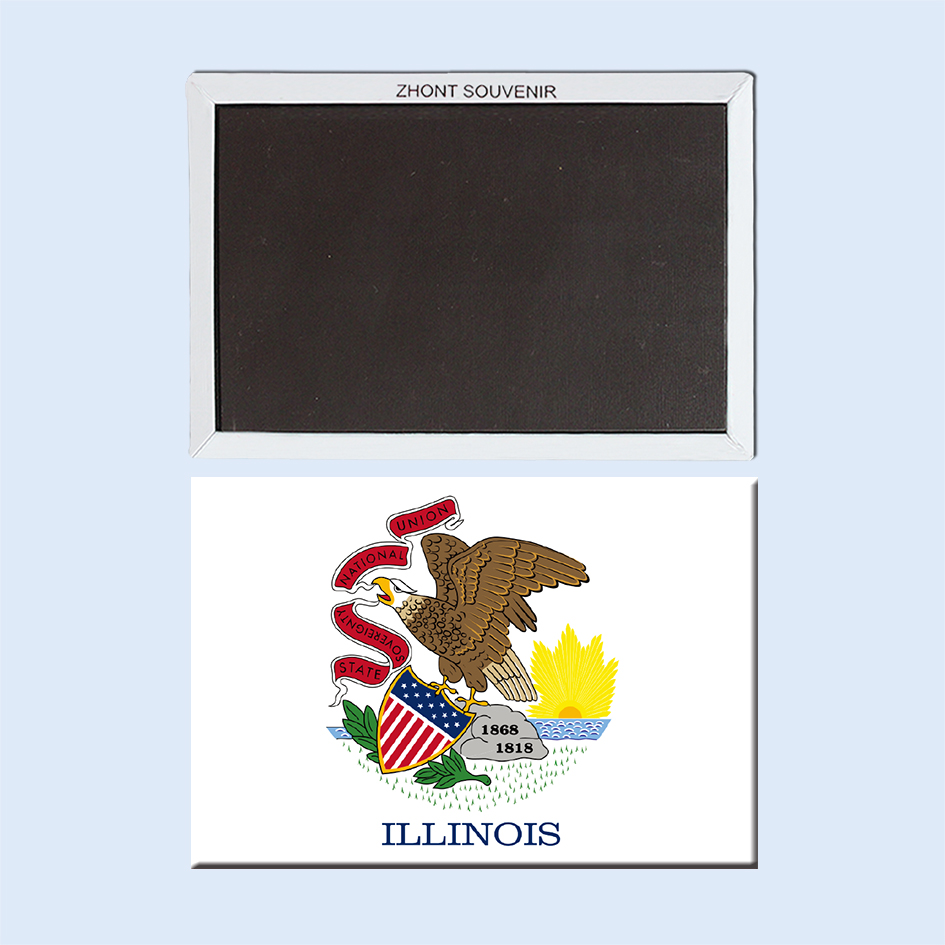 Home Decoration,Flag_of_Illinois Fridge Magnet 032 ...