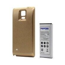 Rozszerzona bateria do Samsung Galaxy Note 4 6440mAh telefon komórkowy Note4 bateria + obudowa tylnej obudowy złota
