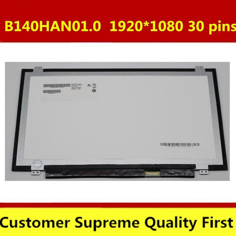 "HOT SALE] 14 0"" FHD For Lenovo FRU PN 04X5911 B140HAN01 3 LED FHD"