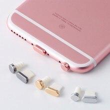 Arrival Mobile Phone Aluminum + PU Dust Plug Set for iPhone