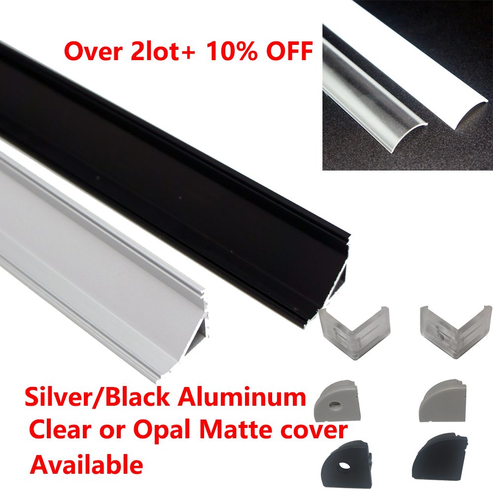 10 X 1M Sets Lot V type aluminium led profile corner for Flex hard led strip