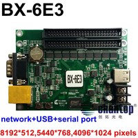 BX 6E3 Network RS232 USB Port 8192 512pixels Support Ethernet Connection Single Dual Full Color Led