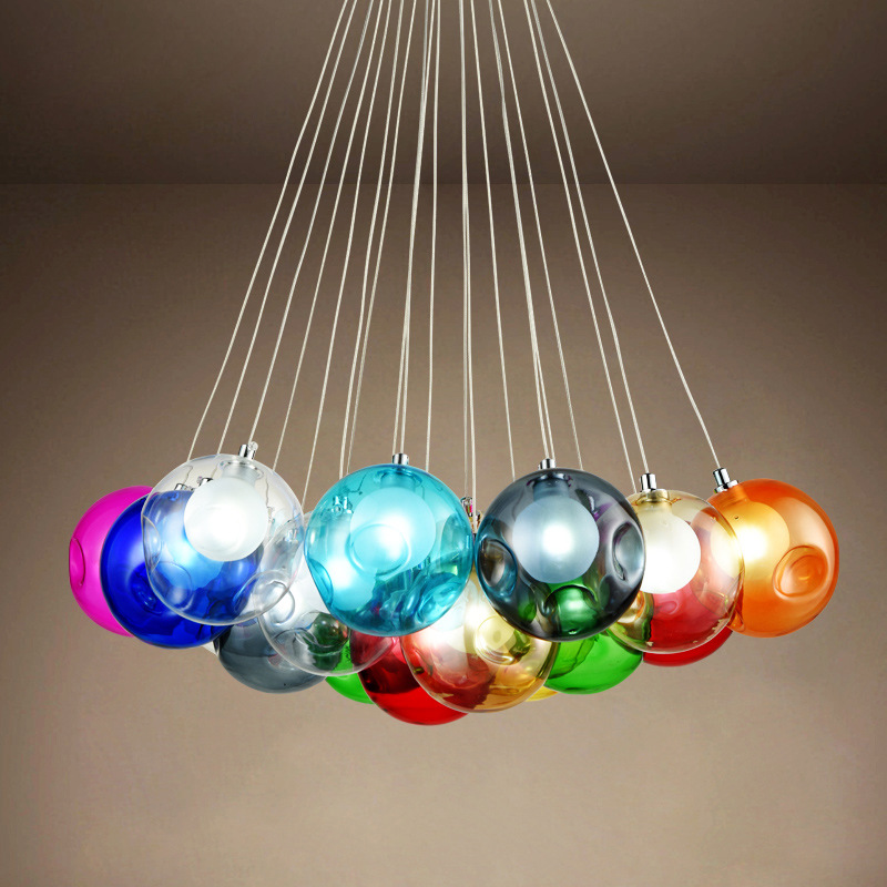 Modern Crystal Chandelier Lights Fixtures Magic Crystal Ball lustres loft stairwell Crystal Light LED Meteor Shower Crystal Lamp