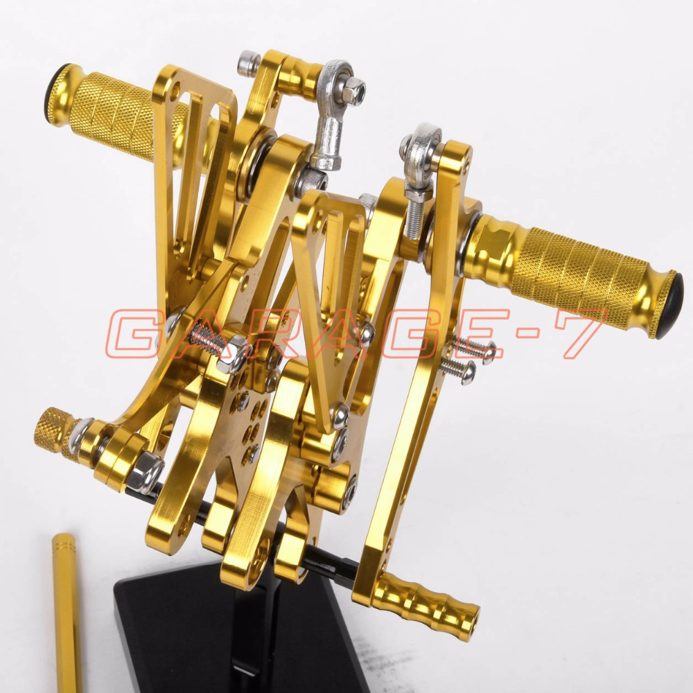Rear sets Foot Rests Rear Set For Yamaha YZF R1 2003 2002 Motorcycle Foot Pegs Yellow