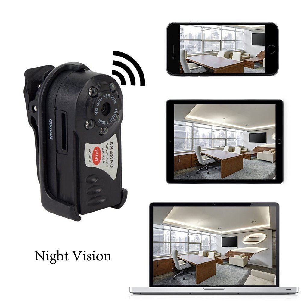 Wireless Mini Wifi DVR Q7 IP Camcorder Video Recorder Camera Infrared Night Vision Camera Motion Detection