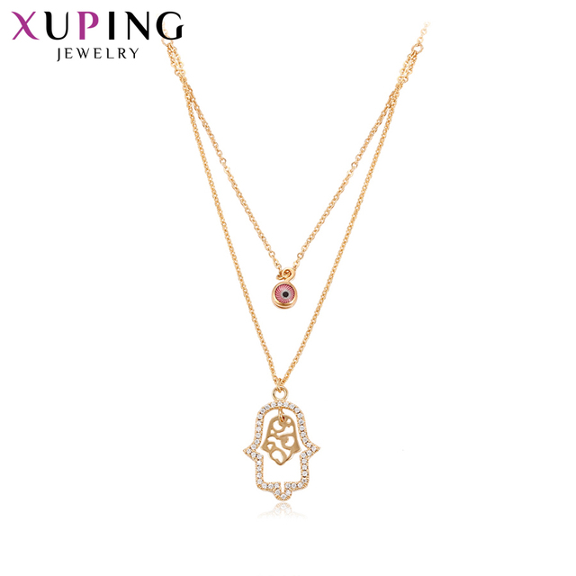 11.11 Deals Xuping Necklace Charm Style Long Necklace Women Fashion Elegant Chain Jewelry Christmas Gifts S34 44418-in Chain Necklaces from Jewelry & ...