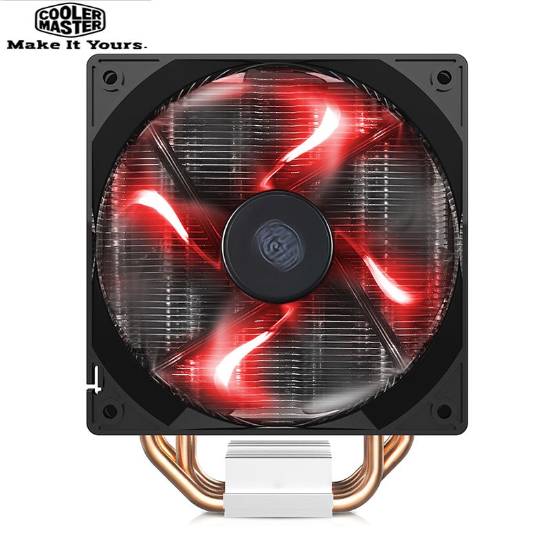 Refroidisseur Master RR-T4V2-16PR-C2 T400I refroidisseur de processeur radiateur 4 caloduc en cuivre 12 cm ventilateur silencieux pour Intel LGA 775 1155 2011 CPU refroidissement