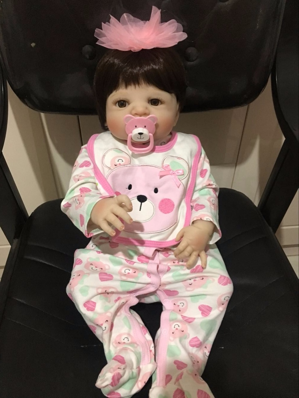 55cm Full Silicone Body Reborn Baby Doll Toy Newborn Princess Toddler Babies Doll Girl Brinquedos Bathe Toy Play House Toy боди playtoday боди
