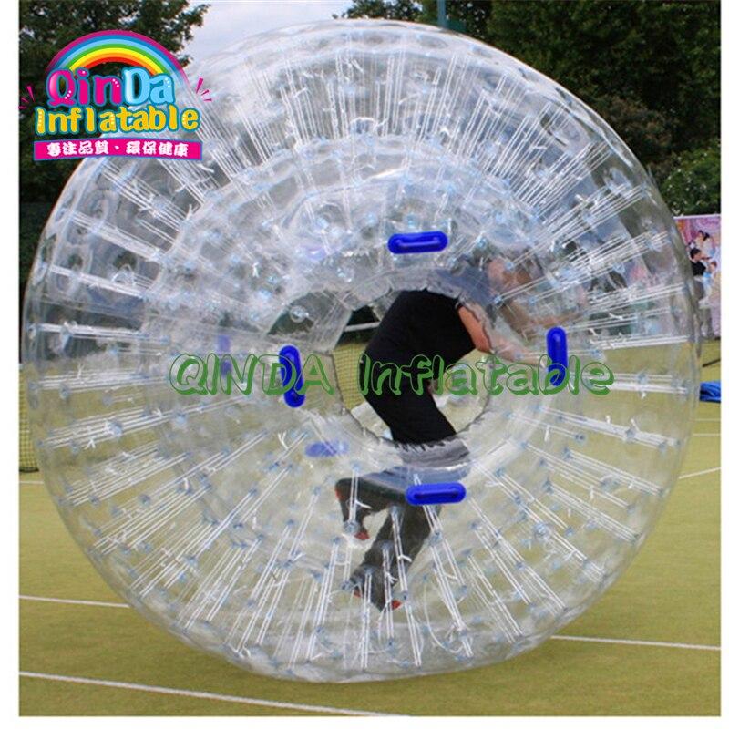 Boule gonflable de zorb de terre de PVC, prix gonflable de boule de zorb, boule gonflable de zorb de corps à vendre