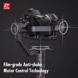 Image 3 - رافعة ZHIYUN رسمية 2 3 محاور مثبت أفقي لجميع طرازات كاميرات DSLR بدون مرآة كانون 5D2/3/4 مع تركيز متابع مؤازر