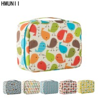 HMUNII Brand New Fashion Women Multicolor Cosmetic Bags Make Up Travel Toiletry Storage Box Makeup Bag