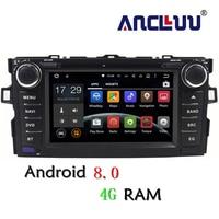 4G RAM Android 8.0 Car dvd Player For Toyota Auris 2006 2007 2008 2009 2010 2011 raido gps navigation car stereo