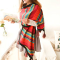 2016 free shipping FASHION HOT Warm Soft Unisex Knitted Big tassel Scarf Wrap Shawl Stole Neck Wrap Women New