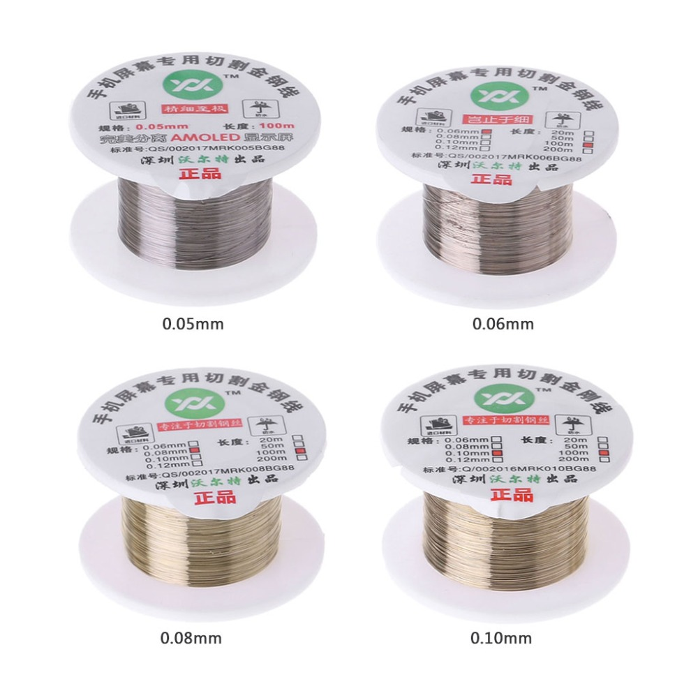 ANENG 100m Alloy Gold Molybdenum Wire Cutting Line LCD Display Screen Separator Repair