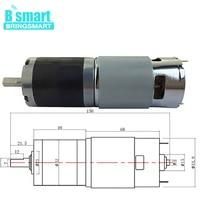 Bringsmart PG42 775 Gear Motor 12 24V 90rpm High Torque DC Reduction Reversible Electric Geared Motor Planetary Motor