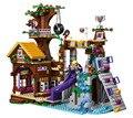 Série BELA Amigos Acampamento Aventura Árvore Casa de Blocos de Construção de Brinquedos Clássicos Para Crianças Menina Maravilha Compatível Legoe