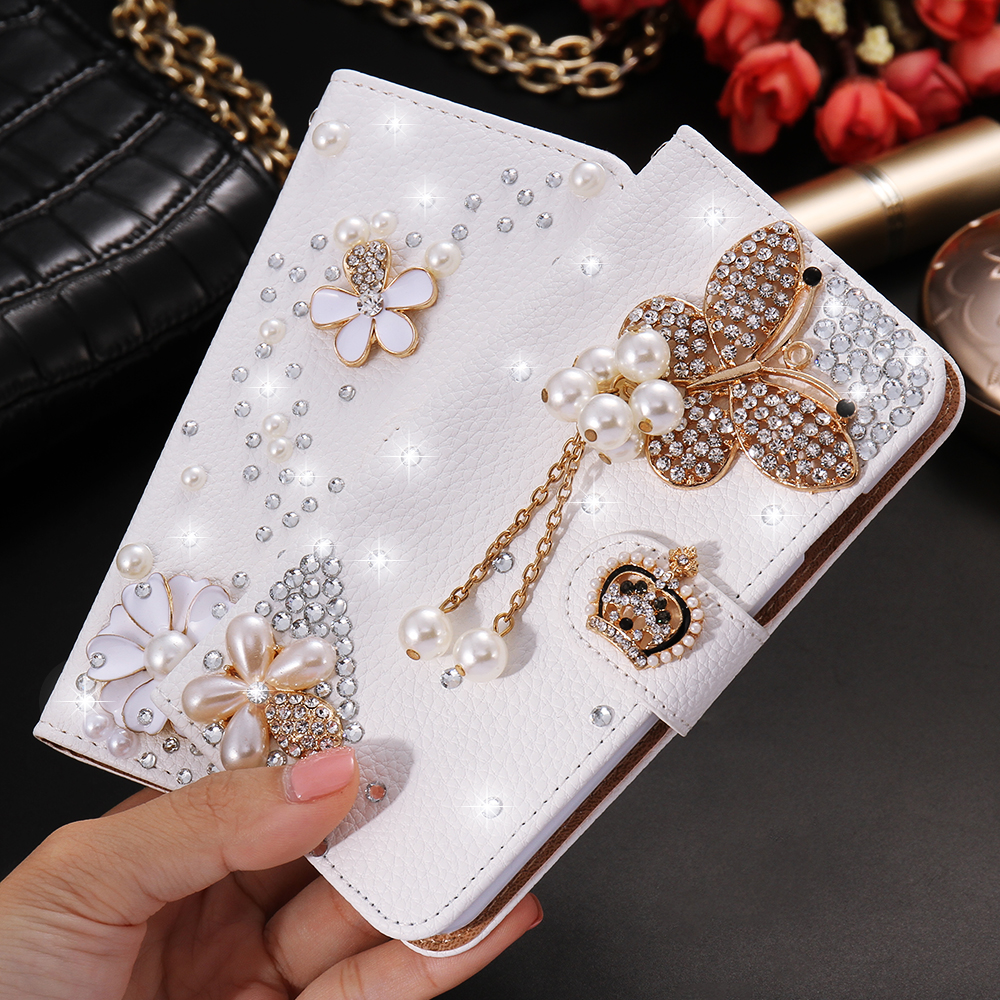 KISSCASE For iPhone 6 6s Case Luxury Women Bling Diamond Wallet Leather Flip Case For iPhone - Mobile Mania Competition April 2018