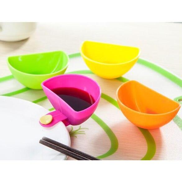 4PCS lot Dip Saucers Assorted font b Salad b font Sauce Ketchup Jam Dip Clip Cup