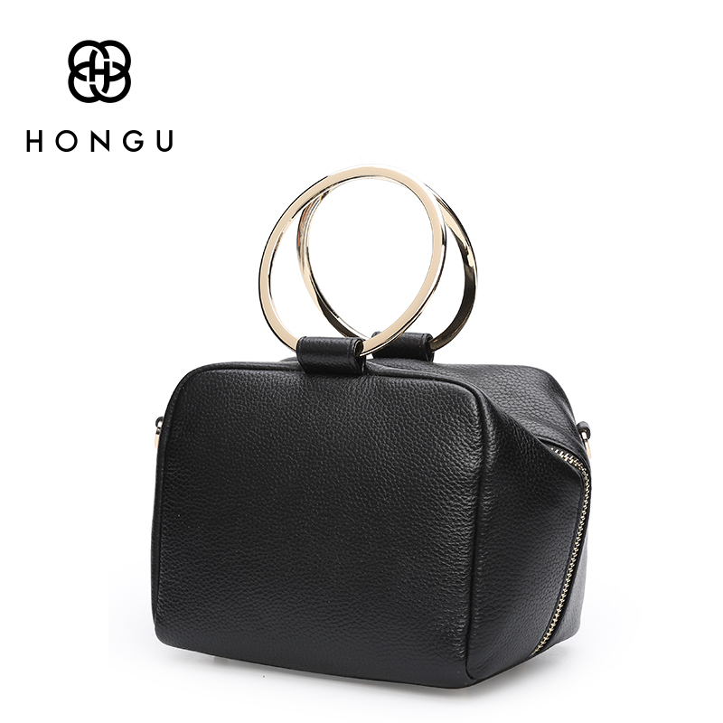 HONGU Luxury Cow Leather Handbags Women Bags Brands Ring Evening Purses Lady Mini Crossbody Shoulder Bags Female Messenger Totes средство bagi кумкумит для удаления накипи в водонагревательных приборах