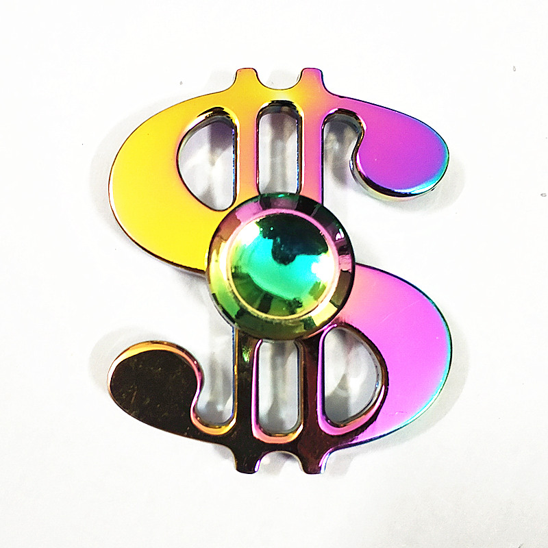047 High Quality Fidget Spinner Metal Rainbow Dragon Hand Finger Spinners Autism ADHD Focus Anxiety Relief Stress
