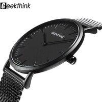 ยี่ห้อTopหรูควอตซ์นาฬิกาผู้ชายลำลองสีดำญี่ปุ่นควอตซ์-นาฬิกาสแตน