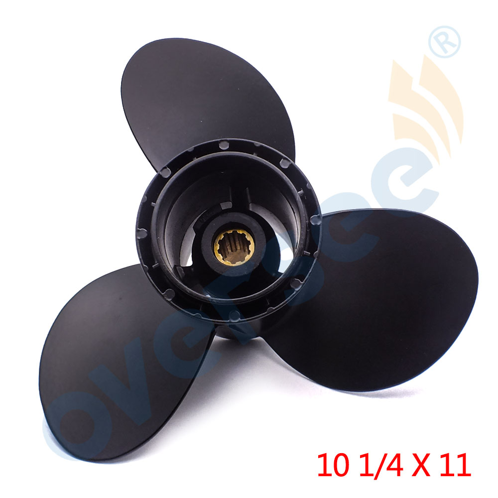58100-96420-019 Propeller For Suzuki Johnson Evinrude Outboard 20-30 PS S30 10 1/4 x 11 Aluminium new outboard propeller 58100 88l31 019 size 11 5 8 x 12 12p df40a 50a 6 for suzuki marine outboard engine motor