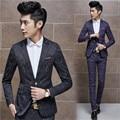 (Jacket + Pant) Latest Coat Pant Designs Mens Purple Black Suit Wedding Groom Jaquard Men Suits Formal Slim Fits Floral Suits