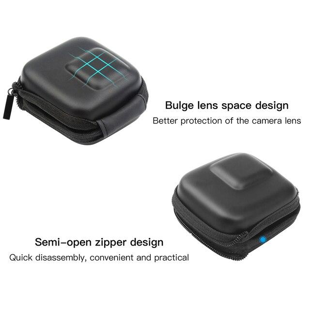 Custodia GoPro Hero 8 7 6 5 Nero Mini EVA di Protezione Caso Di Immagazzinaggio Del Sacchetto Scatola di Montaggio per Go Pro hero 8 7 5 Nero Accessori In Argento 3