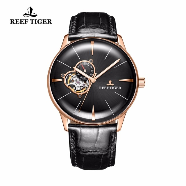 Tiger's Brand Luxury Automatic Genuine Leather Analog Watch / Curved Design 1