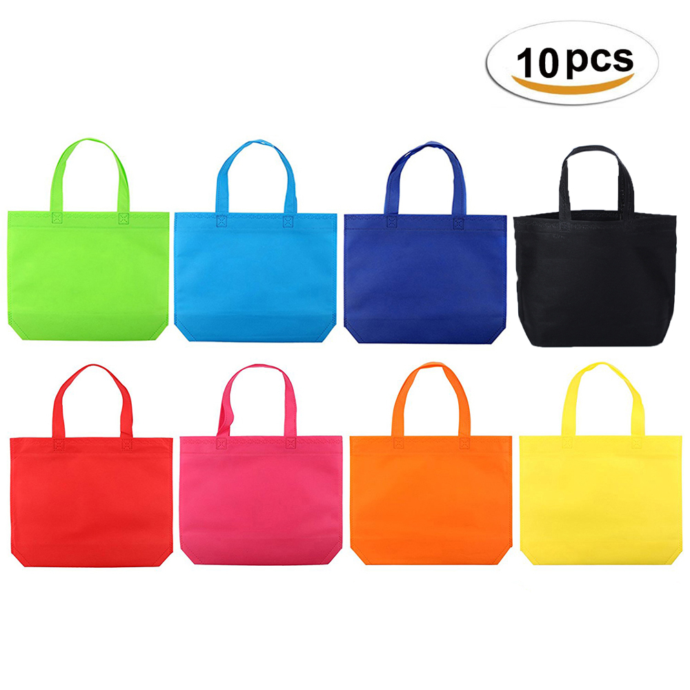 10pcs Party Favor Gifts Bag For Kids Birthdays Toys Bag Christmas Cloth Shopping Treat Bags Multi-use Gift Tote Bags With Handle
