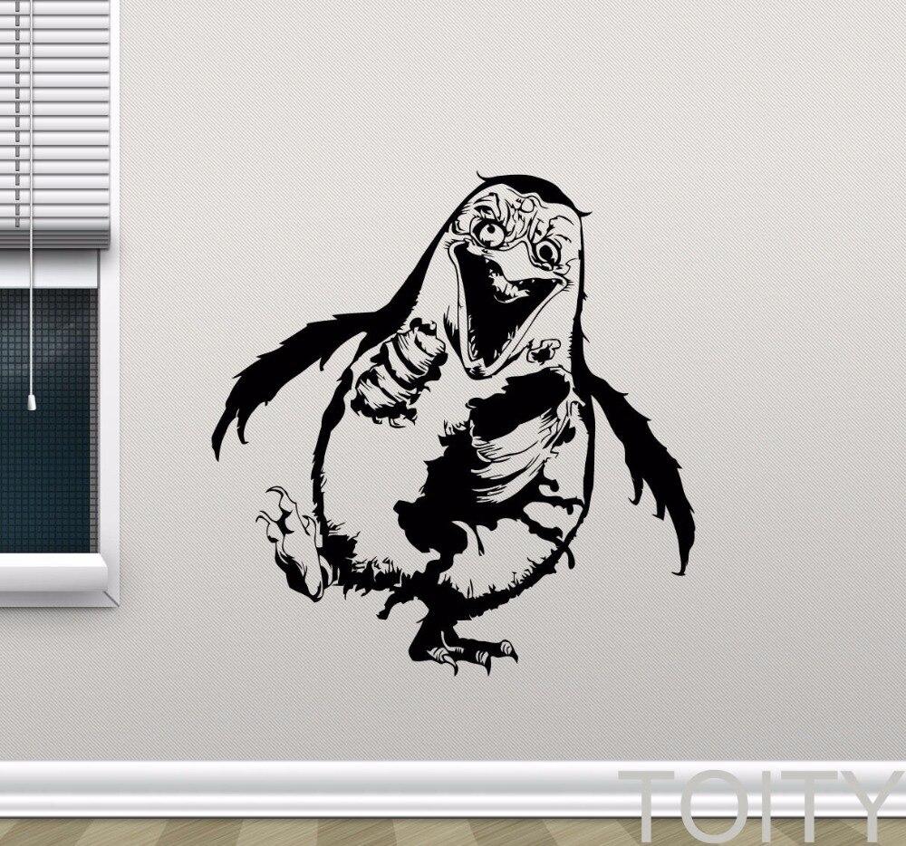 Aliexpress Com Buy Zombie Penguin Wall Sticker Walking Dead Vinyl Decal Dark Animal Horror