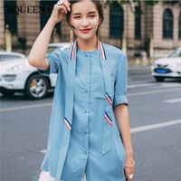 RQUEENA Women Fashion Clothing Short Sleeve Shirt Women Shirts Blouses Loose Single Breasted Summer Womens Tops