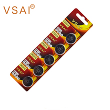 VSAI 5pcs/pack CR2016 3V Lithium Button Battery DL2016  LM2016 BR2016 Batteries