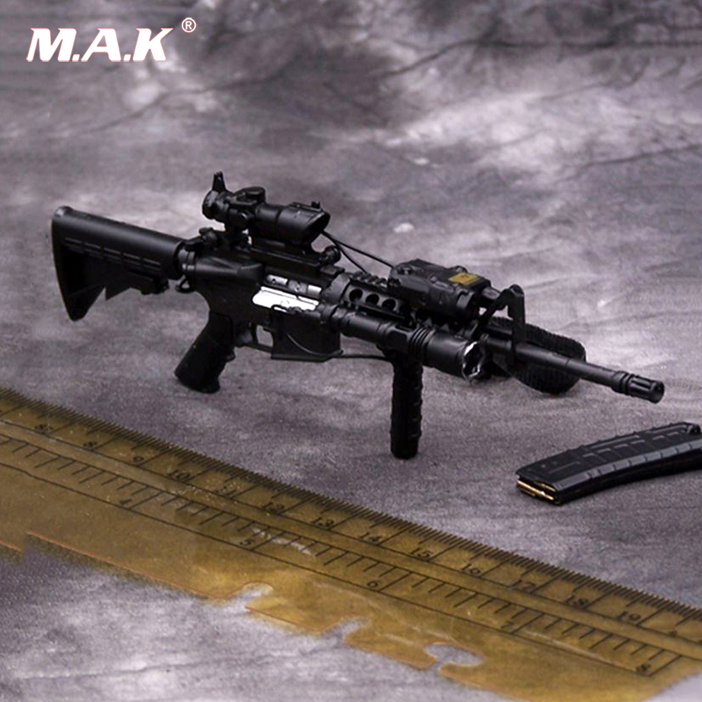1/6 Scale Weapon Figure Toy Black M4A1 Military Assault toy Rifle Model For 12 inches Soldier Figure Accessories Collection 1 6 scale plastics united states assault rifle gun m16a1 military action figure soldier toys parts accessory