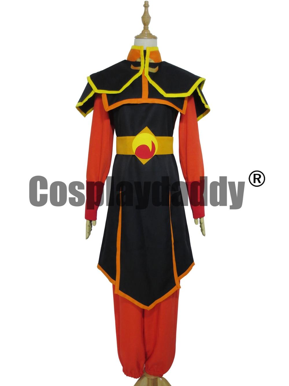 Azula cosplay kostým z Avatar Poslední airbender