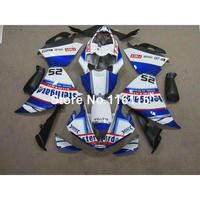 Injection molding Customize fairing kit for YAMAHA YZF R1 2009 2012 2013 2014 YZF R1 09 14 black blue white fairings set CQ40