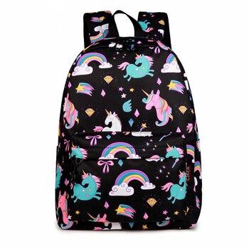 цена на CIKER School Backpack Cartoon Rainbow Unicorn Design Water Repellent Backpack For Teenager Girls School Bags Mochila 2019