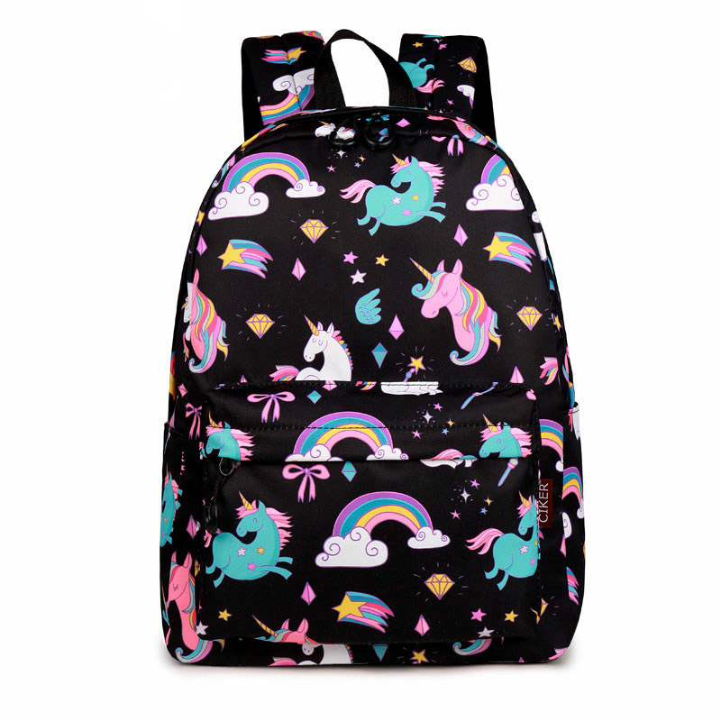 WINNER School Backpack Cartoon Rainbow Unicorn Design Water Repellent Backpack For Teenager Girls School Bags Mochila 2019