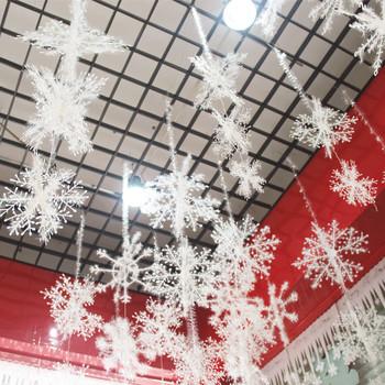 6 sztuk worek biały sztuczny śnieg i płatki śniegu ozdoby choinkowe dla domu ozdoby choinkowe ozdoby DIY rękodzieło dekoracja wnętrz tanie i dobre opinie Atceawit Snowflake XH-007 28 cm three-piece set 38 cm three-piece set Christmas Day plastics OPP bag