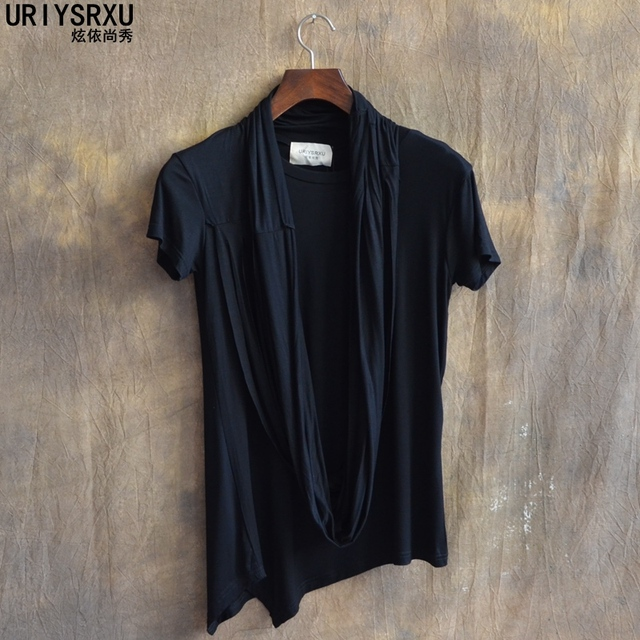 The Boy Personality Fashion Short Sleeve T Shirt Men Clothing of Cultivate One Morality Clothes Stage Performance T Shirts