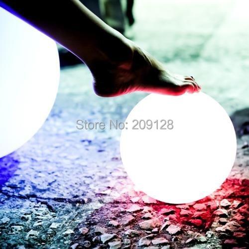 DHL gratis frakt 20cm fargerik ledet ball lys for fest dekorasjon - Ferie belysning - Bilde 4